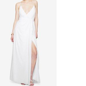Fame and Partners white maxi gown